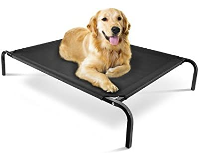 Heavy Duty Waterproof Elevated Pet Dog Cat Bed Outdoor/indoor Cushion Strong Sturdy Frame - cheap UK light shop.