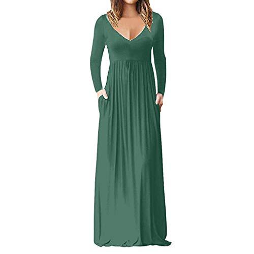 Split Fleece Hoody (Frauen Casual Sleeve V-Ansatz Solide Maxi Tank Langes Kleid Kurzärmeliges, Einfarbiges Kleid Mit V-Ansatz)