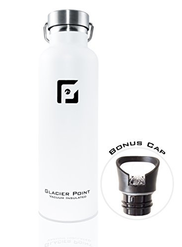 4743024552 64% OFF on Glacier Point Vacuum Insulated Stainless Steel Water Bottle 25  OZ . Double Walled Construction. Powder Coating. Zero Condensation White on  Amazon ...