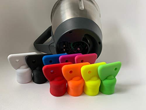 3DJ Teigblume Drehhilfe passend Thermomix TM5 I TM6 Thermomix Zubehör (Schwarz)