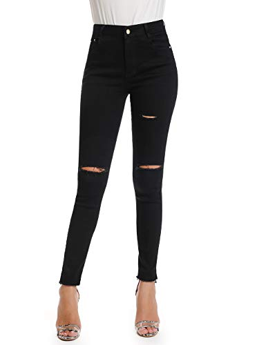 Kefirlily jeans skinny a vita alta con risvolto medio jeans skinny neri