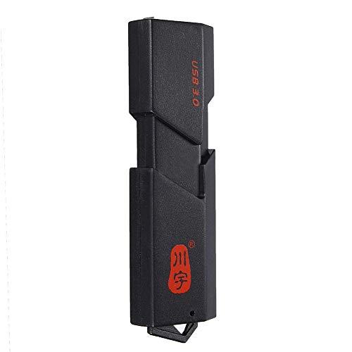 Huhuswwbin Lettore di schede, Adattatore per lettore schede di memoria T-Flash USB 3.0 ad alta velocit¨¤ Micro SD SDXC TF 2-in-1 - nero