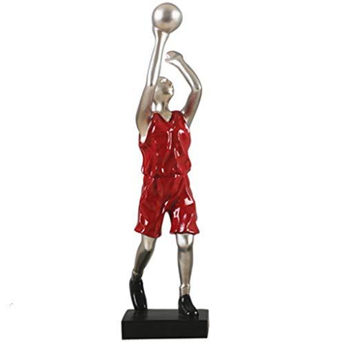 Harz Skulptur Statue Sammler Basketball Ornamente Weinregal Dekoration Dekoration Persönlichkeit Kreative Wohnaccessoires 32X8 cm ()