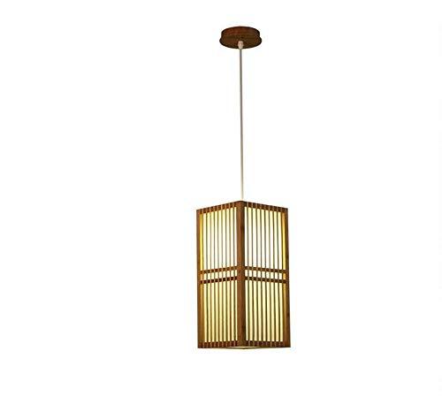 Wicker Outdoor-esstisch (Chandelierceiling Lampenschirm Beleuchtung Kronleuchter Bambus Wicker Rattan Square Shade Pendelleuchte Leuchte im japanischen Stil einzelne hängende Deckenleuchte für Tatami Esstisch Raum)