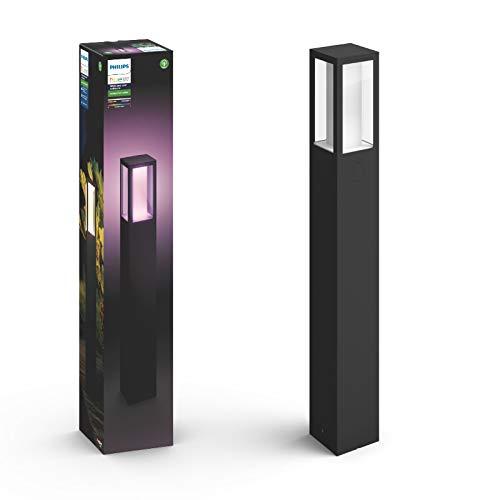 Philips Hue White and Color Ambiance LED Wegeleuchte Impress, für den Aussenbereich, dimmbar, bis zu 16 Millionen Farben, steuerbar via App, kompatibel mit Amazon Alexa (Echo, Echo Dot) -