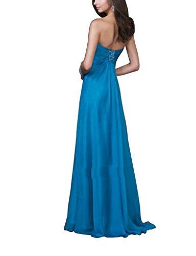 GEORGE BRIDE Mantel / Spalte Liebsten Slip-Vorder Abend-Kleid mit Perlen  Applikationen Tuerkis ...
