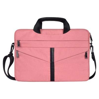 ZHAOLV Laptoptasche Stoßfestes Nylon Schulter Handtasche Messenger for 13 14 15 15.4 15.6 Notebook Fall Frauen Männer Sleeve Laptop Bag (Color : Pink, Size : 13 inch) -