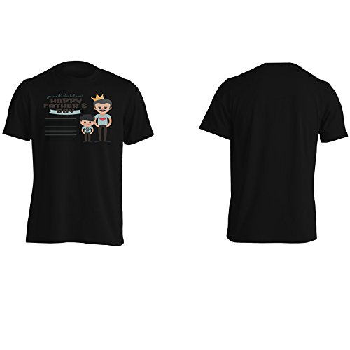 Felice giorno del padre figlio amore novità divertente Uomo T-shirt a902m Black