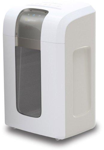 Bonsaii 4S30 Aktenvernichter, bis zu 10 Blatt Papier, Mikroschnitt (Sicherheitsstufe P-5), mit CD - Shredder, 4 Stunden Dauerbetrieb (entspricht ca. 12.000 DIN A4 Seiten) weiß/silber