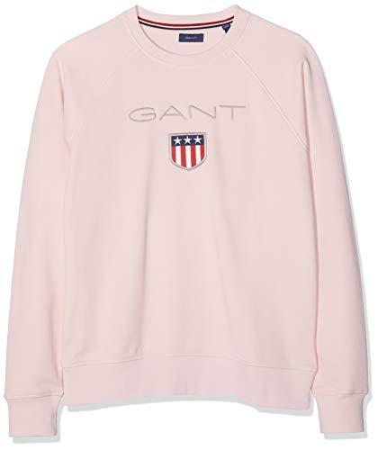 GANT Jungen D1. Shield Logo Sweat C-Neck Sweatshirt, Rosa (Royal Pink 656), (Herstellergröße: 176)