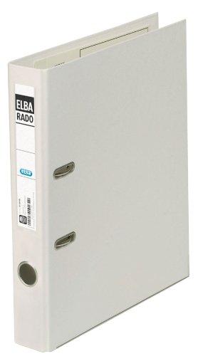 Preisvergleich Produktbild ELBA 10494-WE Ordner rado klassik plastik, 50 mm Rückenbreite, A4, weiß