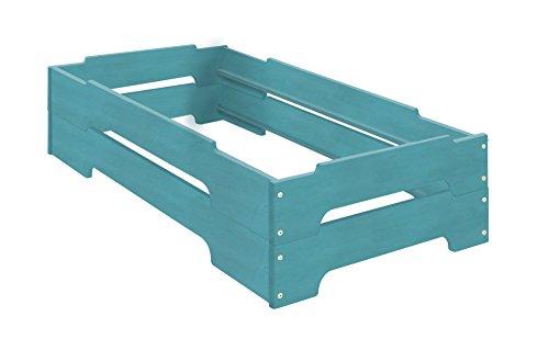 BioKinder 22823 Kai Spar Set Stapelbett aus Massivholz Erle 70 x 140 cm 2 Stück (Erle-set Bett)