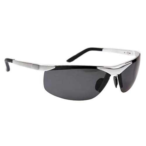 Cool Fashion Metal Frame Polarized Sunglasses Mens Glasses (Silver)