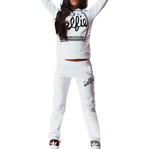 Juqilu Abbigliamento Sportivo Donna Tuta Sportiva Morbida Comoda Fitness  Yoga Tute Pullover a Maniche Lunghe Pantaloni 20d23c077fe