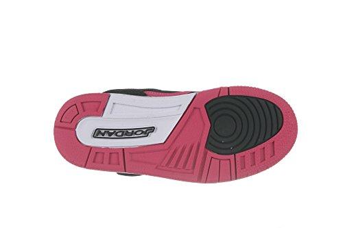 Jordan Flight 45 High Black/Vivid Pink-Vivid Pink-White (10.5 M US Little Kid) Black/Vivid Pink-Vivid Pink