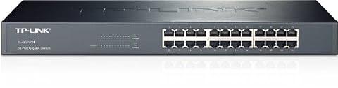 TP-Link TL-SG1024 Netzwerk Gigabit Switch (48,3 cm (19 Zoll), 24x 1000MBit/s RJ45-Ports, lüfterloses Passivkühlkonzept) [Amazon frustfreie Verpackung]