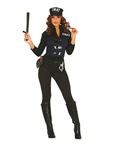 Horror-Shop SWAT Spezial Agentin Damenkostüm M/L (Swat Agent Sexy Kostüm)