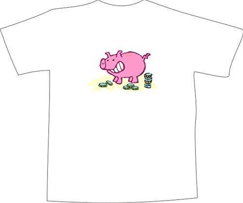 T-Shirt E664 Schönes T-Shirt mit farbigem Brustaufdruck - Logo / Grafik ...