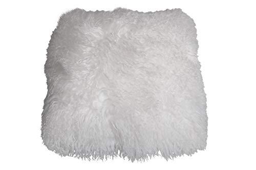 Naturasan Funda de cojín/almohada de piel de oveja tibetana, auténtica piel de...