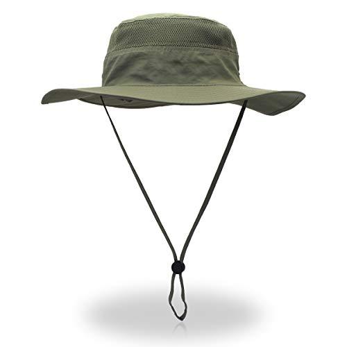 Outfly Wide Brim Sonnenhut Mesh Bucket Hut Leichtgewicht Bonnie Hut Perfekt für Outdoor-Aktivitäten - Spielen Sonnenhut