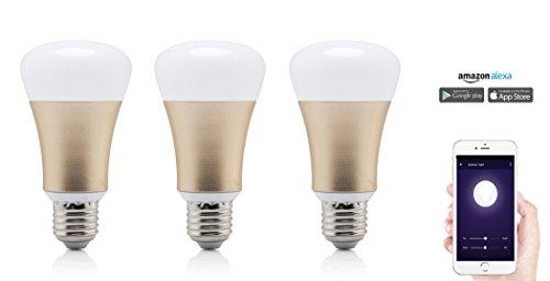 Smart Home LED Lampe, Glühbirne kompatibel mit Alexa, entspricht 40W Leistung, dimmbar, 16 Mio Farben, per App steuerbar, kein teures Steuerelement...