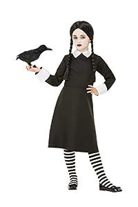 Smiffys 50791S - Disfraz de chica gótica de escuela (talla S, 4-6 años), color negro