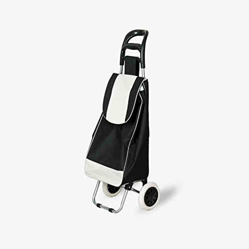 YIWIU Trolley per la Spesa Carrello di Acquisto del Supermercato, Carrello Portatile Multifunzionale, Nero