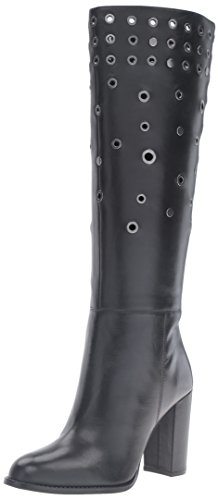 Nine West Quatrina Cuir Botte Black