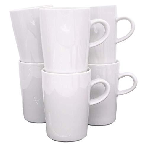 Kahla 39E103A90039C Five Senses Becherset für 6 Personen weiß Kaffeebecher 6-teilig Henkelbecher 350 ml Porzellanbecher Set Tee Kakao Tassenset