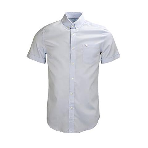 38 chemise manches courtes lacoste ch0221 bleu