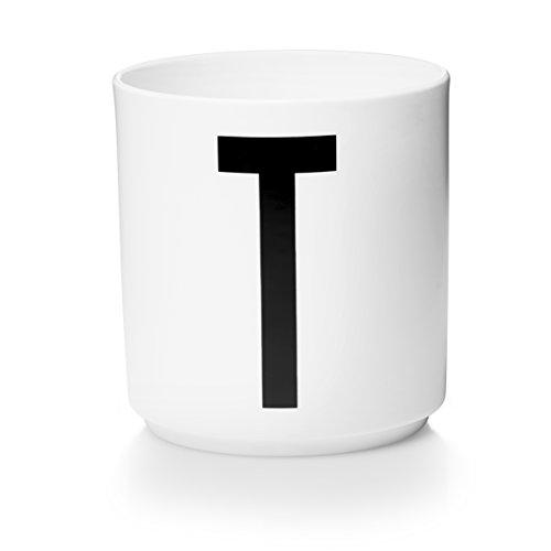 Design Letters - Becher - Buchstabentasse - Buchstabe: T - Porzellan - Arne Jacobsen Design-porzellan