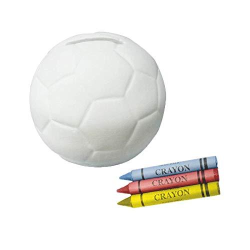 DISOK Hucha Infantil Cerámica Balón Fútbol Colorear