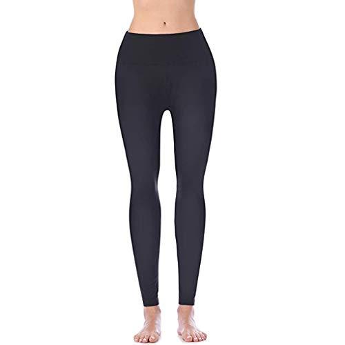 BURFLF Mode Damen Hose, Sommer Frauen Hohe Taille und Enge Schnell Trocknender Stretch Fitness Yoga Hosen Nackt Versteckte Tasche Yoga Sport Hosen - Fitness-boyshort