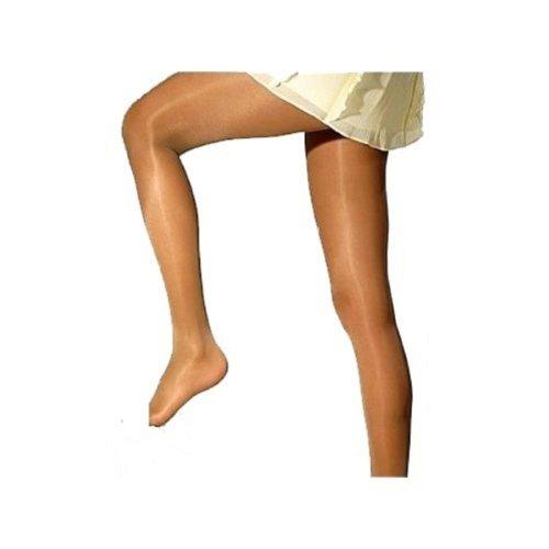 Satin Sheer Luxury Glanz-Strumpfhose, Farbe:Perlmutt;Größe:44-46 (XL) (Beige Sheer Socken)