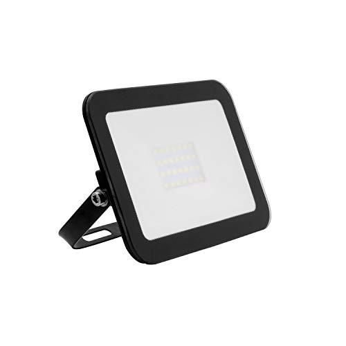 Foco Proyector LED Slim Cristal 20W Negro Blanco Frío 6000K-6500K efectoLED