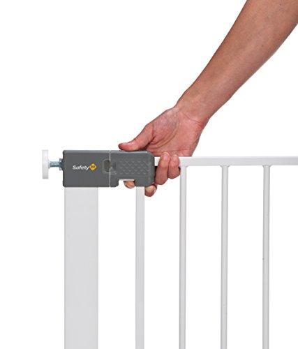 Safety 1st Quick Close Plus Treppenschutzgitter, extra sicheres Metall, Türschutzgitter zum Klemmen, weiß, bis 136 cm verlängerbar - 4