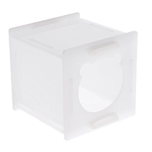 Homyl 1 pezzo nido casa per dormire (6 pannelli + 4 anelli di gomma) grande apertura e spazio interno spazioso - bianco
