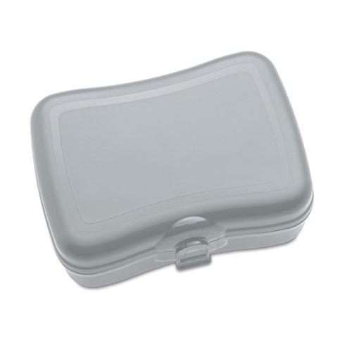 koziol Lunchbox Basic, Kunststoff, cool grey, 12.2 x 16.8 x 6.6 cm (Lunch-box Aus Kunststoff)