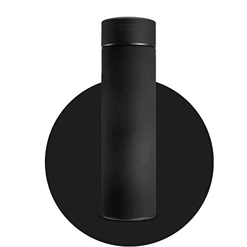 Doppelwandiger, vakuumisolierter Thermobecher für Reisekaffee mit Teeblattfilter (Farbe: Schwarz, Größe: 500 ml)