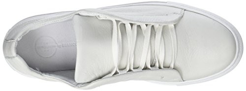 Bianco Damen Hidden Leather Lace Up Sneaker Weiß (White)