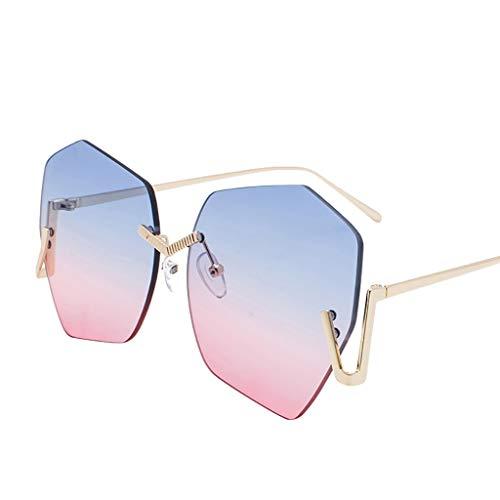 Makefortune 2020 Damen Männer Brille,Unisex mode kleine rahmen sonnenbrille vintage retro...
