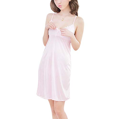 JstDoit Womens Sexy Dessous Komfort Babydoll Set Nachtwäsche Nachthemd Versuchung Unterwäsche - Charmeuse Babydoll Set