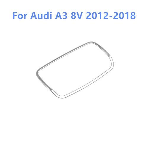 Per A3 8V 2012-2018 Finitura da interno in acciaio inox per mascherina pulsanti luci anteriori, 1 pezzo