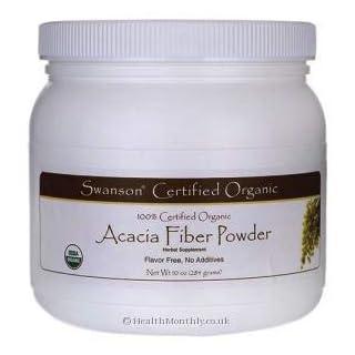 Swanson Certified 100% Organic Acacia Fiber Powder, 284g