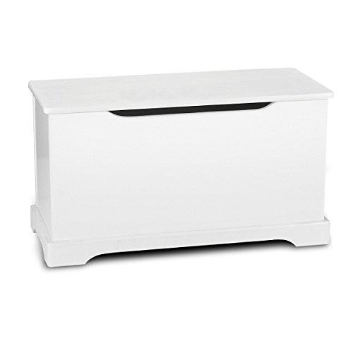 *Leomark Hölzern Kindertruhenbank Kinderbank Weiße Farbe Truhenbank Behälter für Spielzeug, Sitzbank mit Stauraum für Spielsachen*