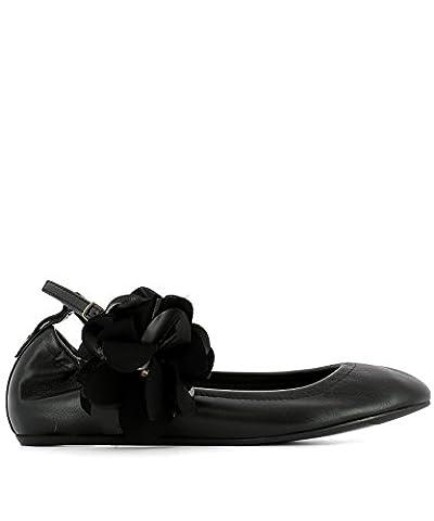 Lanvin Damen Bapb09exaae1710 Schwarz Leder Ballerinas