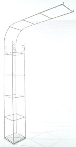 Arc demi-rose pour jardin coloris blanc antique - 218 x 141 x 29 cm - PEGANE -
