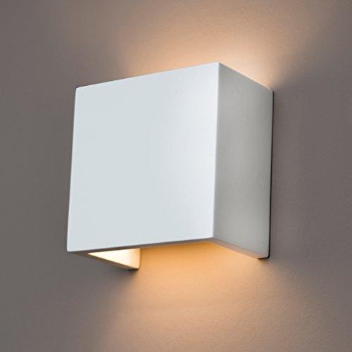 Gipswandleuchte von Activled Gipsleuchte AL-GL8339 im modernen Design in Wandfarbe überstreichbar G9 bis 40W 230V 50Hz Ideale Wandleuchte für Wohnzimmer Flur und Diele