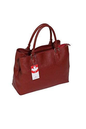BERNSTYN  ldh0124, Sac à main pour femme rouge Rot, bleu foncé (bleu) - 4251061708886 rot_braun