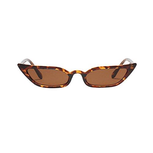 Vovotrade Sonnenbrille Frauen Dame Weinlese Katzenaugen Sonnenbrille Retro kleiner Rahmen UV400 Brillen dünne Gläser Mode Flieger Sonnenbrille Damen für Reise, die Sport fährt (Braun)